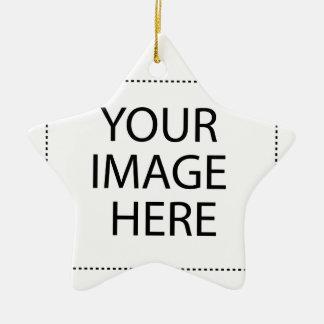 Ornement Étoile En Céramique Entièrement personnalisable VOTRE IMAGE ICI