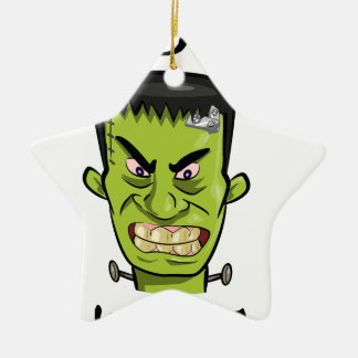 Ornement Étoile En Céramique Épice de citrouille de Frankenstein