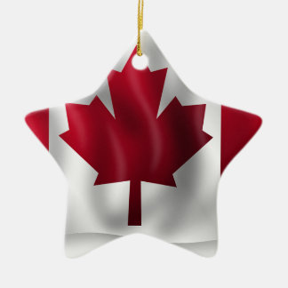 Ornement Étoile En Céramique Érable canadien de feuille d'emblème de pays de