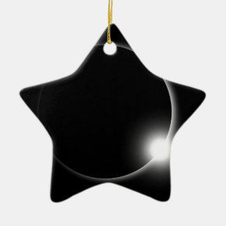 Ornement Étoile En Céramique Éruption chromosphérique de fusée de Sun d'éclipse