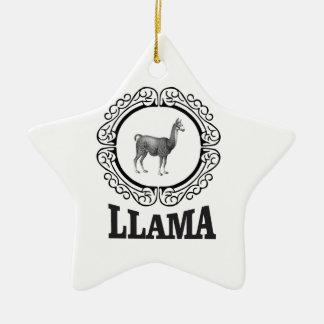Ornement Étoile En Céramique étiquette de lama