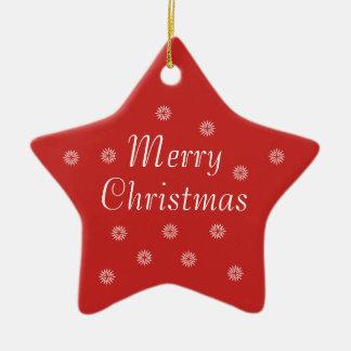 Ornement Étoile En Céramique Étoile en céramique de Joyeux Noël