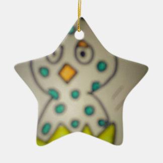 Ornement Étoile En Céramique étoile poussin dans sa coquille