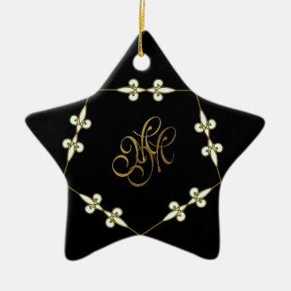 Ornement Étoile En Céramique Étoile victorienne de fête de Nouveau d'art de