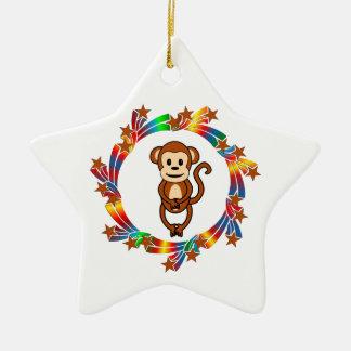 Ornement Étoile En Céramique Étoiles de singe