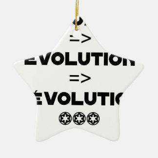 Ornement Étoile En Céramique EVALUATION EVOLUTION RÉVOLUTION- JEUX DE MOTS - Je