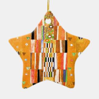 Ornement Étoile En Céramique Extrémité de Gustav Klimt du mur