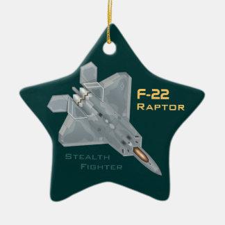 Ornement Étoile En Céramique F-22 Raptor