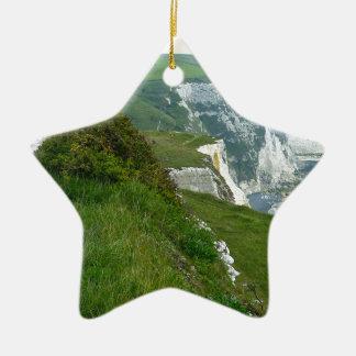 Ornement Étoile En Céramique Falaises blanches de Douvres