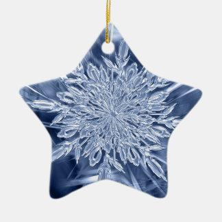 Ornement Étoile En Céramique faveur de Noël de cristal de glace