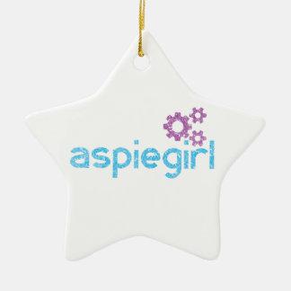 Ornement Étoile En Céramique Femme d'Aspiegirl avec Aspergers