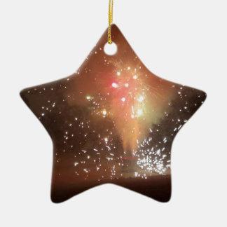 Ornement Étoile En Céramique feux d'artifice