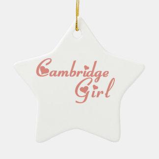 Ornement Étoile En Céramique Fille de Cambridge