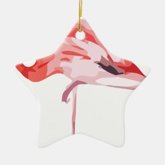 Ornement Étoile En Céramique Flamingo_3