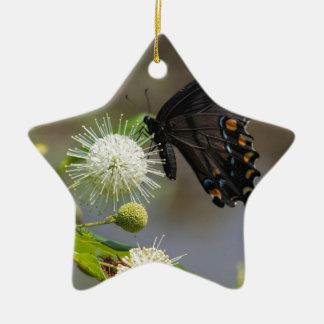 Ornement Étoile En Céramique fleur de bouton et spicebush3