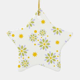 Ornement Étoile En Céramique Fleurs, étoiles et points modernes colorés