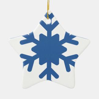Ornement Étoile En Céramique Flocon de neige