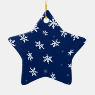Ornement Étoile En Céramique Flocons de neige