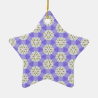 Ornement Étoile En Céramique Flocons de neige floraux 1