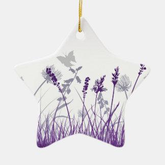 Ornement Étoile En Céramique Floral, art, conception, beau, nouvelle, mode