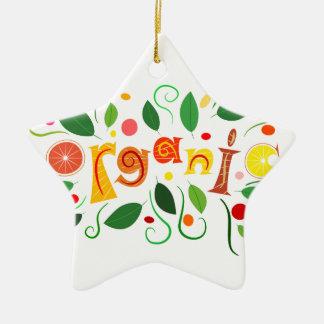 Ornement Étoile En Céramique Floramentina - art organique
