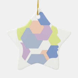 Ornement Étoile En Céramique Formes géométriques à l'intérieur de conception