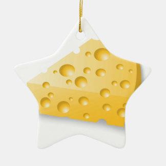 Ornement Étoile En Céramique fromage