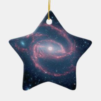 Ornement Étoile En Céramique Galaxie enroulée de NGC 1097 de la nuit