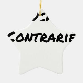Ornement Étoile En Céramique GAUCHER, CONTRARIÉ - Jeux de mots - Francois Ville
