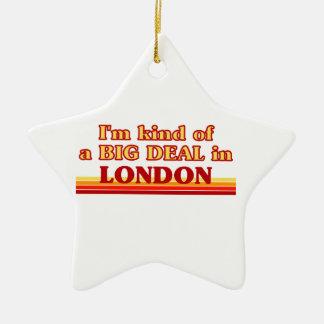 Ornement Étoile En Céramique Genre d'I´m d'affaire à Londres