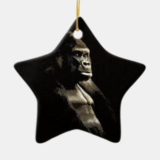 Ornement Étoile En Céramique Gorille