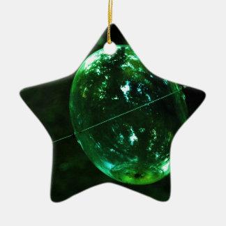 Ornement Étoile En Céramique Goutte de pluie en verre vert