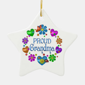 Ornement Étoile En Céramique Grand-maman fière