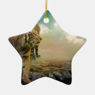Ornement Étoile En Céramique Grand tigre