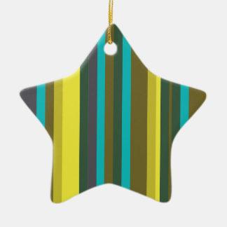 Ornement Étoile En Céramique Green_stripes