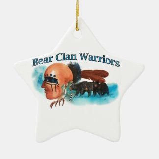 Ornement Étoile En Céramique Guerriers de clan d'ours