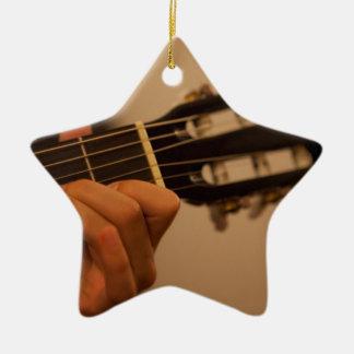 Ornement Étoile En Céramique guitar player