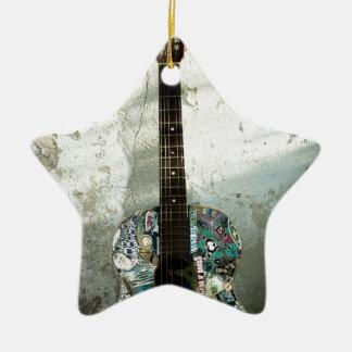Ornement Étoile En Céramique guitare