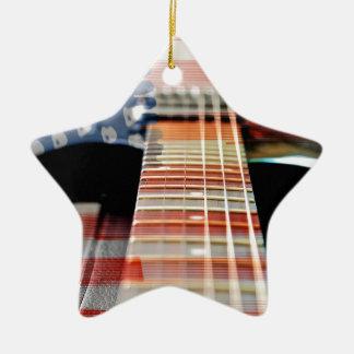 Ornement Étoile En Céramique Guitare électrique de guitare de bannière des