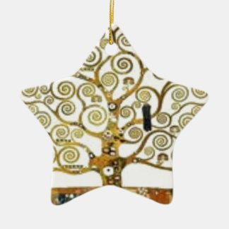 Ornement Étoile En Céramique Gustav Klimt - l'arbre de la peinture de la vie