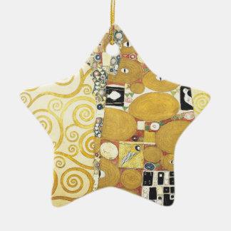 Ornement Étoile En Céramique Gustav Klimt - l'étreinte - illustration classique