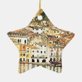 Ornement Étoile En Céramique Gustav Klimt - Malcesine sur le policier de lac