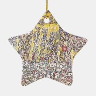 Ornement Étoile En Céramique Gustav Klimt - paysage horticole avec le sommet