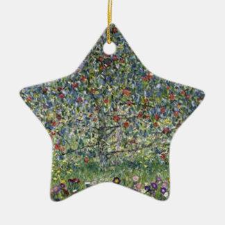 Ornement Étoile En Céramique Gustav Klimt - peinture de pommier