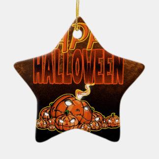Ornement Étoile En Céramique Halloween heureux