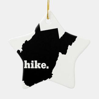 Ornement Étoile En Céramique Hausse la Virginie Occidentale
