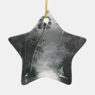 Ornement Étoile En Céramique Héron brumeux de rivière de la Floride