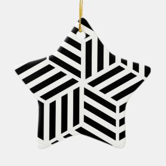 Ornement Étoile En Céramique Hexagones