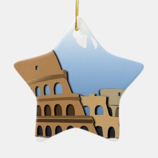 Ornement Étoile En Céramique Histoire antique Italie de Colisé de Coliseo Roma