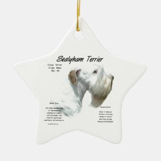 Ornement Étoile En Céramique Histoire de Sealyham Terrier